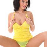 Linet virtuagirl yellow panties top